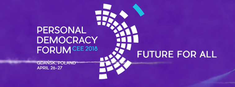 Event cover image for 國際出訪:Personal Democracy Forum Central and Eastern Europe(PDFCEE) 個人民主論壇 PDF 2018