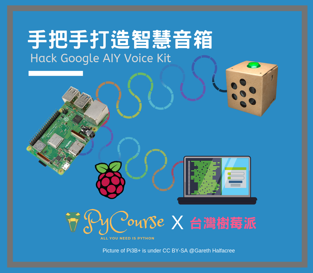 Event cover image for 手把手打造智慧音箱 | Hack Google AIY Voice Kit